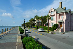 East Battery in Charleston, SC. Colonial houses in historic Charleston, SC Royalty Free Stock Photography