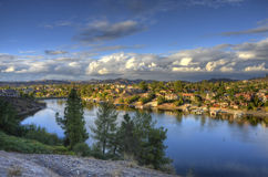 East Bay. View to the north of the East Bay of Canyon Lake California Stock Images