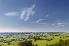 East Belgian Landscape. Green hill landscape in the east of Belgium province Liege near Aubel stock image