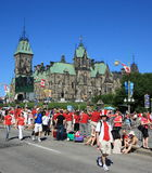 East Block on Canada Day Royalty Free Stock Photography
