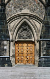 East Block Wooden Door. The East Block of the Parliament Buildings. Ottawa, Ontario. Canada Stock Image