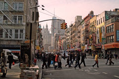 East Broadway in Chinatown New York USA 2013 Royalty Free Stock Images