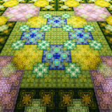 East carpet. Pattern on fabric. Tapestry. Royalty Free Stock Photography