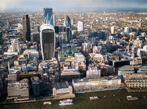 East central london. Insurance and banking district Stock Photography