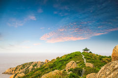East china sea in sunset Royalty Free Stock Photography