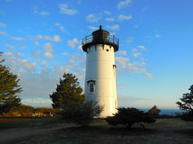East Chop historic lighthouse. Built of cast iron and opened in 1869 overlooking Vineyard Haven Harbor Massachusetts, USA stock images