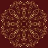 East circular  ornament Stock Image