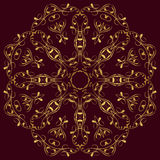 East circular  ornament Royalty Free Stock Images