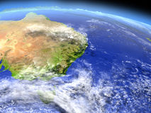 East coast of Australia from space Royalty Free Stock Photo
