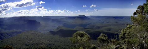 East Coast Australian Valleys Panorama Stock Photography