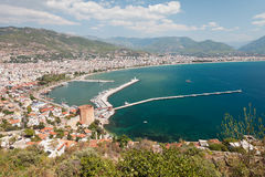 East coast beach resort of Turkey Alanya Royalty Free Stock Photography
