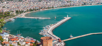 East coast beach resort of Turkey Alanya Royalty Free Stock Images