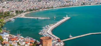 East coast beach resort of Turkey Alanya Royalty Free Stock Images