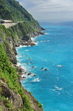 East Coast cliff and ocean. Cliff and blue ocean at East Coast of Taiwan stock photos