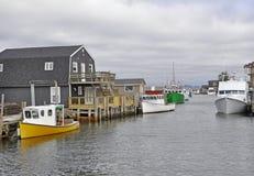 East Coast fishing village Royalty Free Stock Photo