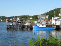 East Coast Fishing Village Royalty Free Stock Photography