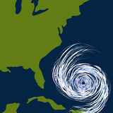 East Coast Hurricane Drawing Royalty Free Stock Photos