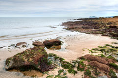 East coast of Irish Sea in Malahide, Ireland Royalty Free Stock Photography