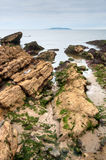 East coast of Irish Sea in Malahide, Ireland Stock Images