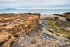 East coast of Irish Sea in Malahide, Ireland Royalty Free Stock Photo