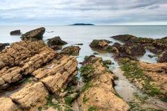 East coast of Irish Sea in Malahide, Ireland Royalty Free Stock Images