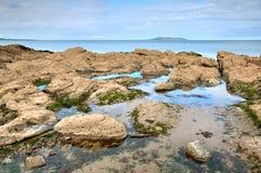 East coast of Irish Sea in Malahide, Ireland Stock Photography