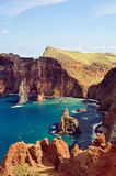 East coast of Madeira island, Ponta de Sao Loure royalty free stock photography