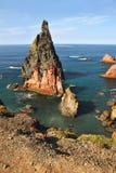 East coast of Madeira island, Ponta de Sao Loure stock image