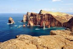 East coast of Madeira island - Ponta de Sao Loure royalty free stock image