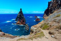 East coast of Madeira island - Ponta de Sao Lourenco royalty free stock image