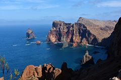 East coast of Madeira island, Ponta de Sao Lourenzo Stock Images