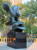 The East Coast Memorial at Battery Park in New York. City stock photos