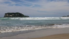 Whangamata beach stock footage