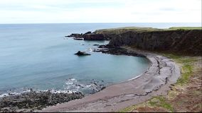 East coast of Scotland stock footage