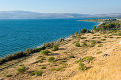 East coast of the Sea of Galilee Royalty Free Stock Images
