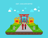 East Concept Illustration Royalty Free Stock Images