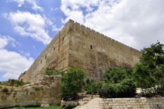 East corner of old Jerusalem wall. Royalty Free Stock Photos