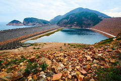 The East Dam. The photo was taken in High Island reservoir Sai kung East Country park Hongkong, China Stock Photo