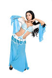 East dancer in eastern  costume. Royalty Free Stock Images