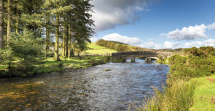The East Dart River at Bellever Bridge Stock Images