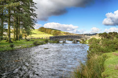 The East Dart River at Bellever Bridge Stock Photography