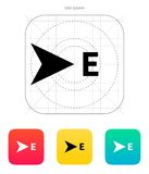 East direction compass icon. Vector illustration Vector Illustration