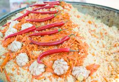 East dish. Pilau. Royalty Free Stock Photo
