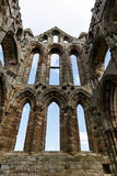 The East end section of the ruins of Whitby Abbey Stock Photos