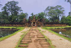 East enterance of Banteay Srei Stock Photography