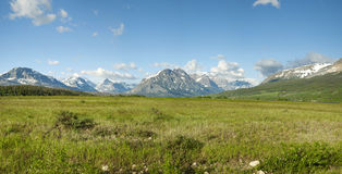 East entrance panorama of Glacier National Park Stock Photography