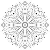 East ethnic round mandala. Coloring for adults. Royalty Free Stock Photography