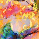East ethnic seamless floral background royalty free illustration