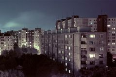 East Europe block of flats. Living in East Europe, block of flats in Bratislava, Slovakia Royalty Free Stock Photos