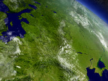 East Europe from space Royalty Free Stock Photos